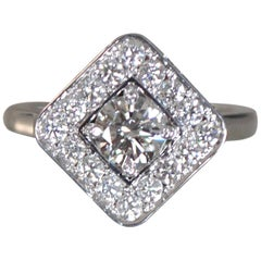 1.5 Carat Approximate Round Diamond with Cushion Halo Ring, Ben Dannie
