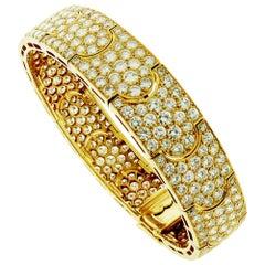 15 Carat Diamond and 18 Karat Yellow Gold Cartier Bracelet