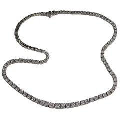 15 Carat Diamonds Platinum Necklace
