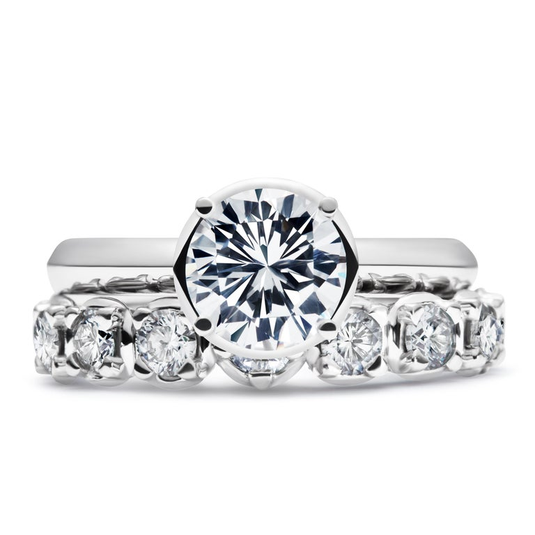 Brilliant Cut 1.5 Carat Solitaire Traceable Diamond Ring in White Gold by Rocks for Life For Sale
