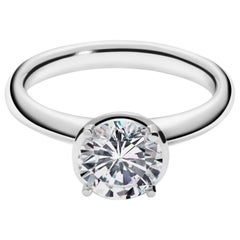 1.5 Carat Solitaire Traceable Diamond Ring in White Gold by Rocks for Life