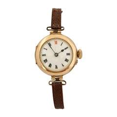 15 Karat Gold Antique Swiss Ladies Trench Watch
