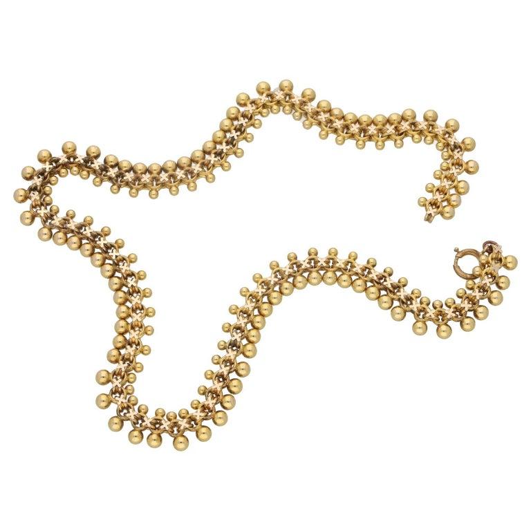 15 Karat Gold Victorian Etruscan Necklace