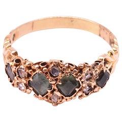 15 Karat Rose Diamond and Peridot Ring