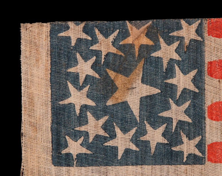 15 Star American Parade Flag, Kentucky Statehood In Good Condition For Sale In York County, PA