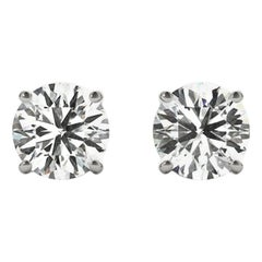 1.5 Total Carat Weight Apprx Diamond Earring Studs White Gold, Ben Dannie