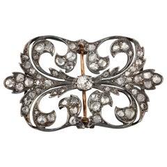 1.50 Carat Antique Diamonds Brooch