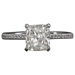 1.50 Carat Cushion Cut Solitaire Ring