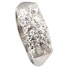 1.50 Carat Diamond Band Ring in White Gold