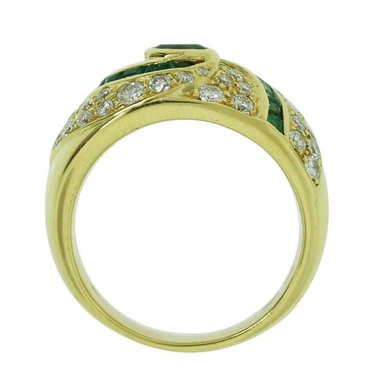 1.50 Carat Diamond Emerald Ring In Excellent Condition For Sale In Boca Raton, FL