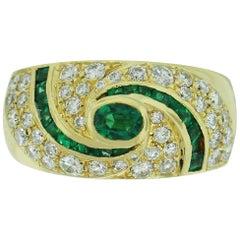 1.50 Carat Diamond Emerald Ring