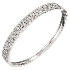 1.50 Carat Diamond Gold Bangle Bracelet