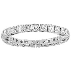 1.50 Carat Diamond Gold Round Eternity Band