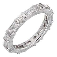 1.50 Carat Diamond Platinum Eternity Band