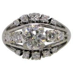 1.50 Carat Diamond Ring in 14 Karat White Gold