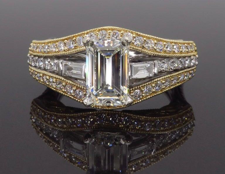 1 50 Carat Emerald Cut Diamond Ring For Sale At 1stdibs