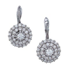 Dangle, Double Halo 1.50 Ct. Quality Pave Earrings