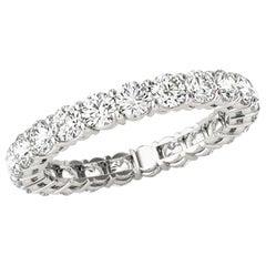 1.50 Carat Round Brilliant Cut Diamond Eternity Wedding Band in 14 Karat Gold