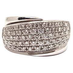 1.50 Carat White Gold Diamond Cocktail Memory Ring