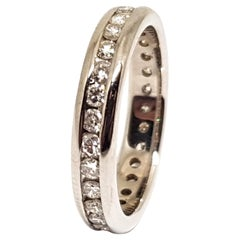 1.50 Carat White Gold Wedding Diamond Memory Ring
