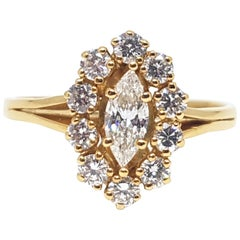 1.50 Carat Yellow Gold Diamond Engagement Ring