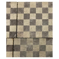 Reclaimed Brown and White Checkerboard Tiles