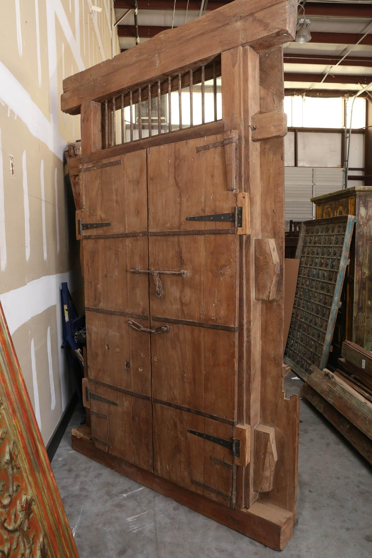 150 Years Old Massive Fortress Type Door From Colonial Mansion In Western India For Sale At 1stdibs