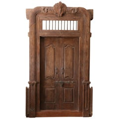 150 Years Old Massive Fortress Type Door from Colonial Mansion in Western India