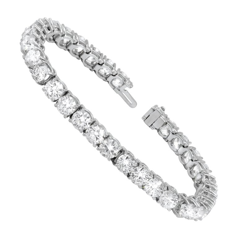 15.00 Carat Diamond Tennis Bracelet For Sale