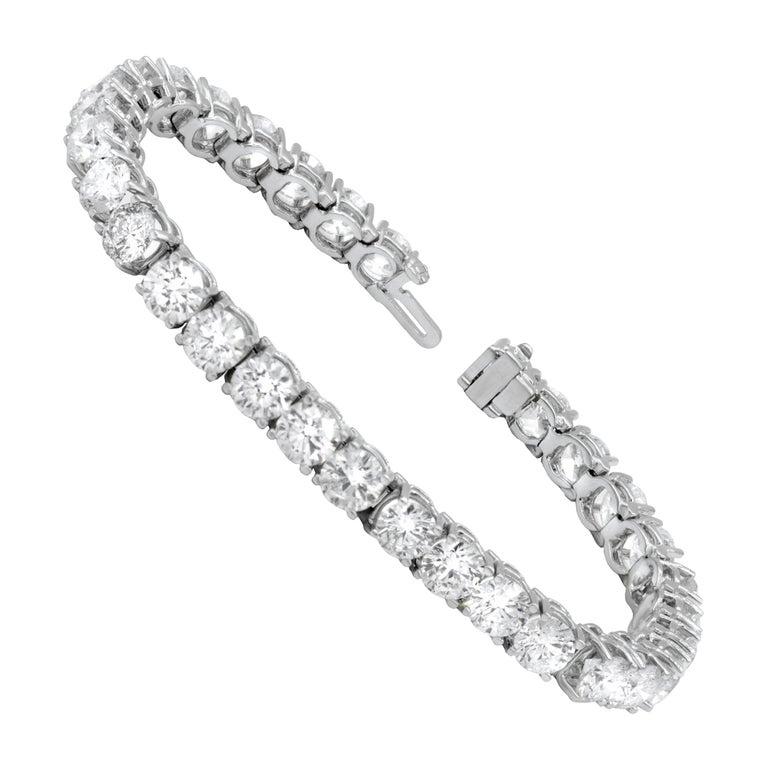 15.00 Carat Diamond Tennis Bracelet