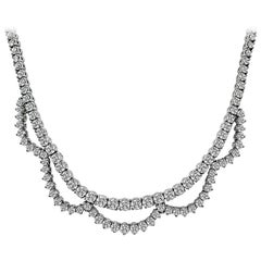 15.00 Carat Diamond White Gold Necklace