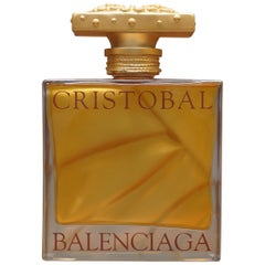 Giant Display Bottle with Real Eau De Parfum Perfume Cristobal Balenciaga
