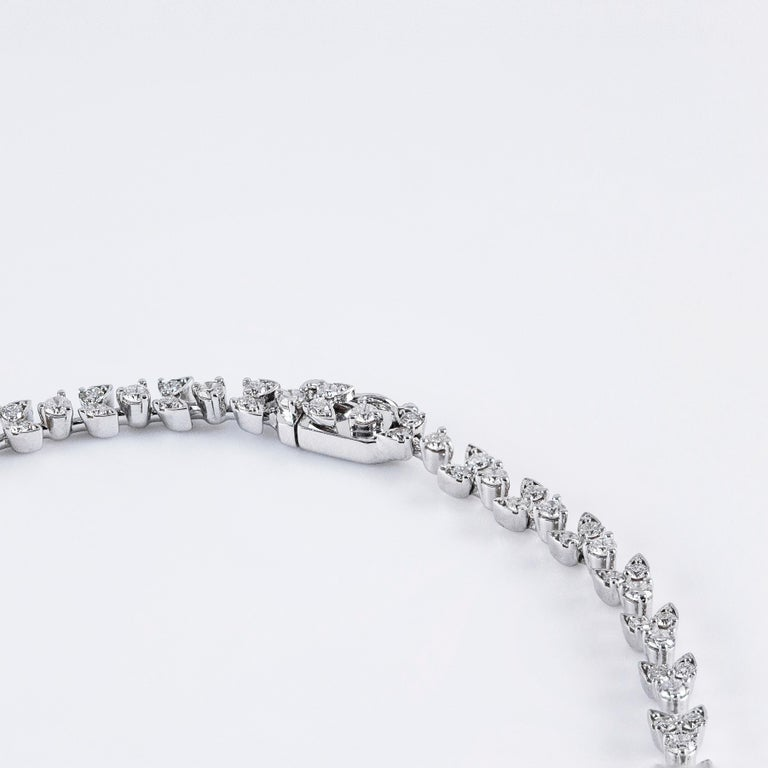15.08 Carat Diamond White Gold Necklace In New Condition For Sale In New York, NY