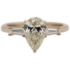 1.51 Carat Pear Shape Diamond Ring