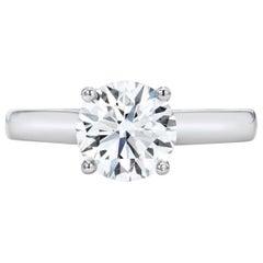 1.51 G Color SI1 Clarity Solitaire Platinum Diamond Ring GIA Certified EX EX EX