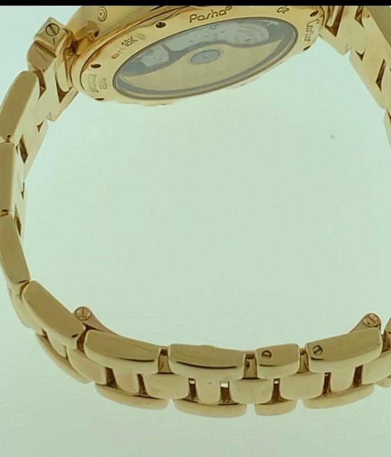 151 Gm 18 Karat Gold Cartier Pasha Factory Diamond Automatic Chrono Watch For Sale 4