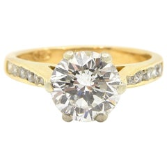 1.52 Carat Certified Round Brilliant Cut Diamond Engagement Ring