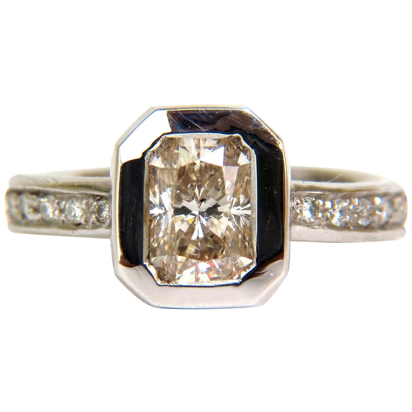 1.52 Carat Fancy Natural Brown Color Diamond Eternity Ring 14 Karat