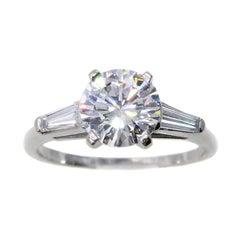 1.52 Carat GIA Certified D VVS1 Diamond Platinum Engagement Ring