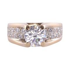 1.52 Carat VS2 Center Diamond Ring