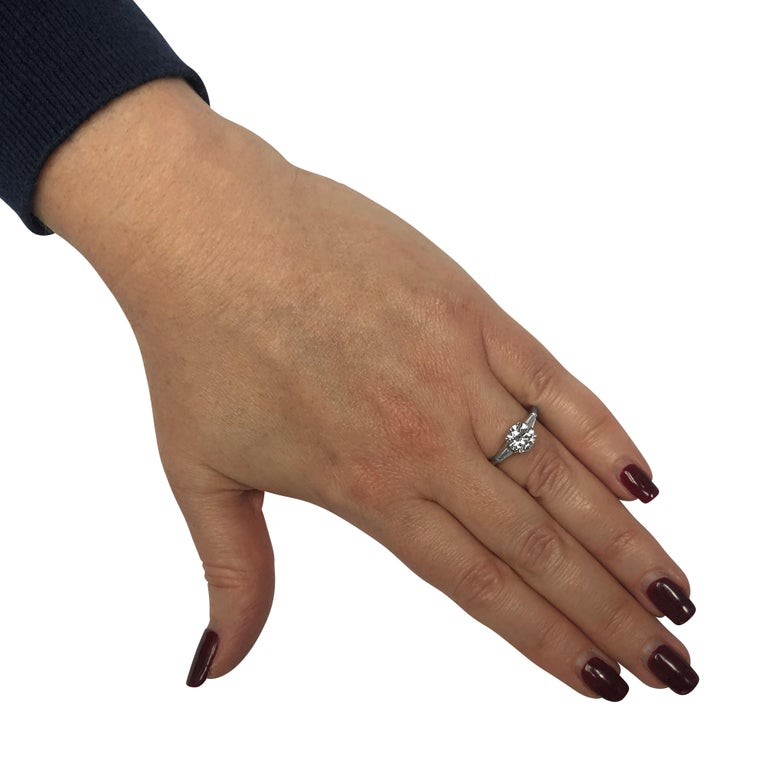 Modern 1.53 Carat Diamond Engagement Ring For Sale