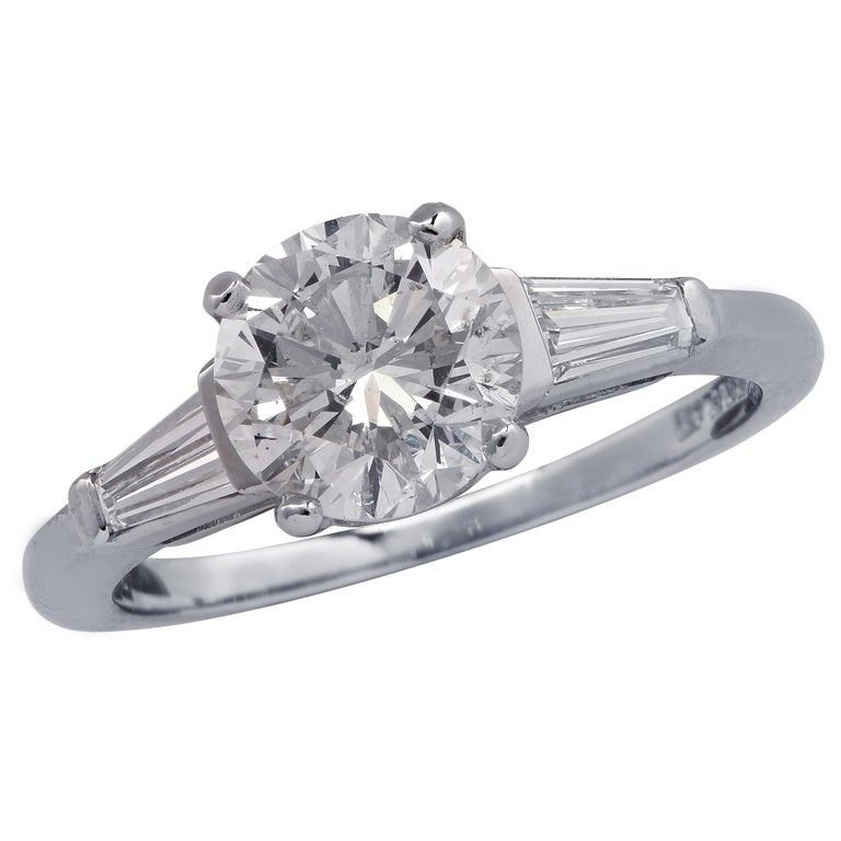 1.53 Carat Diamond Engagement Ring For Sale