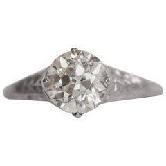 1.53 Carat Diamond Platinum Engagement Ring