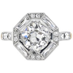 1.53 Carat GIA Certified Old European Cut Diamond Set in an 18 Karat Gold Ring