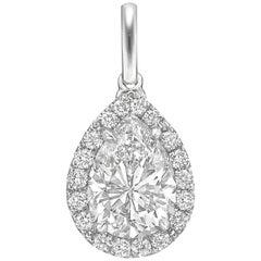 "1.54 Carat Pear Brilliant Diamond ""Oriana"" Pendant"