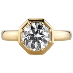 1.54 Carat I/SI2 GIA Certified Old European Cut Diamond in an 18 Karat Gold Ring