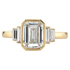 1.55 Carat GIA Certified Emerald Cut Diamond Set in an 18 Karat Gold Ring