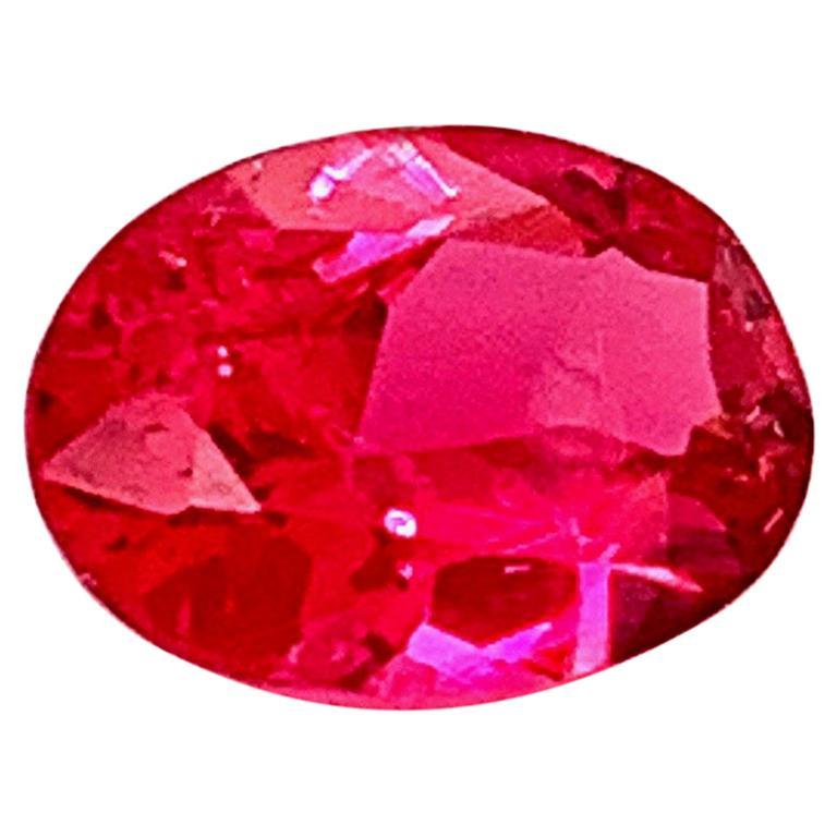 1.55 Carat Reddish Pink Spinel from Tanzania
