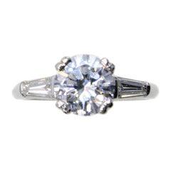 1.55 D IF Platinum Diamond Engagement Ring