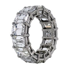 Sebastian Bernard 15.51 Ct Emerald Cut Platinum Eternity Ring 'Single Caraters'